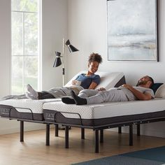 💙Do you want to change the way you sleep? 💙 The Lucid L150 adjustable bed base is an innovative bed base that allows you to completely customize your sleep experience.