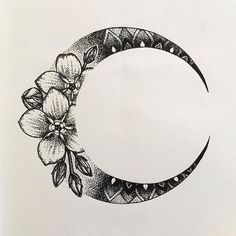 As part of mehndi style design. Around shoulder maybe? #MoonTattooIdeas