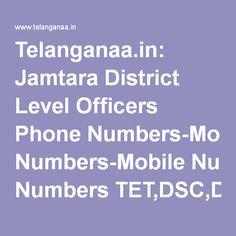 Telanganaa.in: Jamtara District Level Officers Phone Numbers-Mobile Numbers…