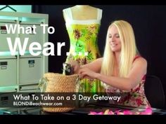 What to wear for a 3 day vacation getaway - Jax Couture Home Shopping Guide   Find out what Designer, Jacqueline Jax packs in one small tote #bag for a 3 day weekend. Including #styling tips and her favorite #swimsuit right now.  Watch Video: http://youtu.be/wowThnIPLHY  :: #Vacationwear #fashionblogger #dresses #swimwear #outfitoftheday #ootd #vacation #resort #designer #style #spring #video #swagg #fashionhaul #haul #clothing #beachwear #memorialday
