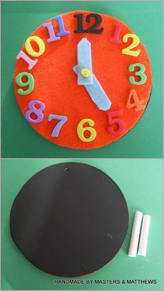 Chalk & Learn Play Clock - The Supermums Craft Fair