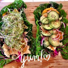 Rainbow Swish Chard Hummus Wrap, Hummas Wrap --  gluten-free wrap and vegan...love this recipe!