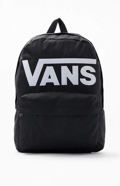 Head back to school the Vans way with the Logo Old Skool III Backpack. This rad backpack has a large main compartment, a front accessory pocket, padded adjustable straps, and a bold Vans logo embroidered on the front. Vans Old Skool Backpack, Vans Rucksack, Colorful Backpacks, Cute Backpacks, School Backpacks, Black Backpack, Backpack Bags, Fashion Backpack, Vans Logo