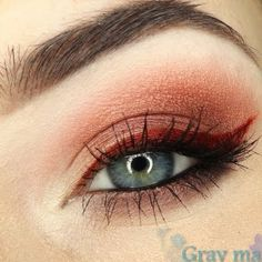 A striking rust colored eyeliner is used instead of the usual black for this night out eye makeup. Update your stash of liners with this gorgeous color.