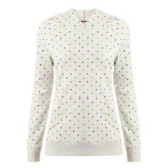 Buy White Stuff Kobe Spot Sweatshirt, Husy Grey Online at johnlewis.com