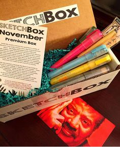 SketchBox - Ooh, monthly subscription to get fun new art supplies to try. Would make a great gift for someone who is exploring new art techniques. Sketch Box, Art Challenge, Cool Art, Awesome Art, New Artists, Art Techniques, Art Education, Colored Pencils