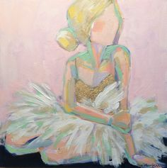 She Leaves A Little Sparkle Wherever She Goes - C. Brooke Ring - Colorful ballerina painting - the perfect artwork for little girl's nursery or room Abstract Canvas Art, Oil Painting Abstract, Canvas Artwork, Diy Painting, Ballerina Painting, Ballerina Art, Ballerina Nursery, Unicorn Art, Painting People