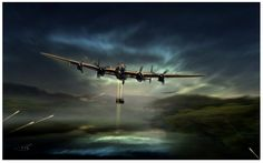 A Lancaster Bomber from the Battle of Britain Memorial Flight, flys over the Derwent Dam, 65 years to the day after the famous Dambuster raid known as Operation Chastise.