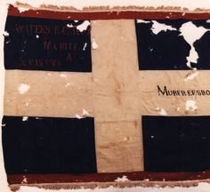 Waters Battery flag (Polks and Braggs Corps pattern): Alabama Photographs and Pictures Collection