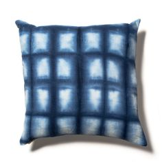 Shibori Pillow in Cobalt Blue