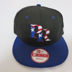 New Era 9fifty Puerto Rico Flag MLB Baseball Team 950 Hat Cap Snapback  Black  NewEra 506c5f4c6a1