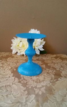 Check out this item in my Etsy shop https://www.etsy.com/listing/237487077/turquoise-metal-candle-holder-rustic