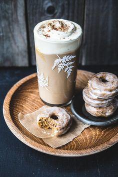펌킨 스파이스 베이크 도넛&아이스 펌킨 스파이스 라떼
