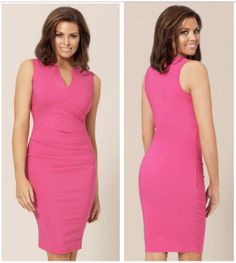 Jessica Wright Pink Effie Dress. Sleeveless shift dress with flattering tailored fit. £60