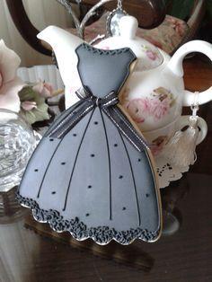 Elegant Dress Sugar Cookies