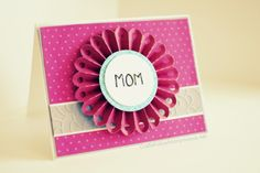 Mother's day card #craft #papercraft