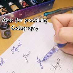 Calligraphy Writing, Calligraphy Practice, Stuff To Do, Cool Things To Buy, Cool Stuff, Dip Pen, Gradient Color, Cool Inventions, Drawing Tips