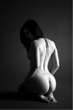 kneeling Nude submissive woman