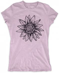 Evoke Apparel - Flower Print Womens Graphic T-shirt, $27.00 (http://www.evokeapparelcompany.com/flower-print-womens-graphic-t-shirt/)  Simple flower womens graphic t-shirt printed on a super comfy American Apparel tee.