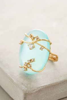 Ivied Looking Glass Ring by Indulgems #anthrofave #anthropologie