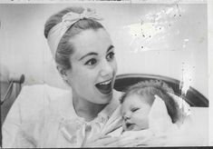 1958 Shirley Jones w Baby Boy Shaun Cassidy Wire Photo | eBay