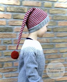 bare vrang: Gratis oppskrift: Jeg vil ha stripete nisselue! Baby Patterns, Knitting Patterns Free, Free Knitting, Free Pattern, Nordic Christmas, Christmas Knitting, Christmas Crafts, Holiday Hats, Textiles