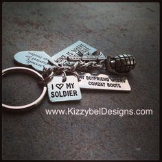 • Visit our Website: www.KizzybelDesigns.com • Like us on Facebook: www.Facebook.com/KizzybelDesigns • Follow us on IG & Twitter: http://instagram.com/kizzybeldesigns http://www.Twitter.com/kizzybeldesigns #military #militaryjewerly #support #homecoming #jewelry #kizzybeldesigns #customjewelry #army #navy #usmc #charms #airforce #militarycharms #armykeychain #nametape #armywife #nametapebracelet #bracelet #necklace #keychain #usa #america #custom #handmade #gift #deployment #craft #crafts…