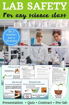 Middle school or high school laboratory safety- lab safety contract, lab safety…
