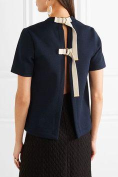 Marni | Buckled textured-neoprene top | NET-A-PORTER.COM