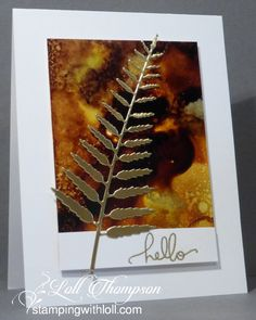 Stamping with Loll: Video - Alcohol Inks with Yupo Hi everyone. Today I'm sharing several cards I made while filming my latest video tutorial. The tutorial is how I work with Alc. Alcohol Ink Crafts, Alcohol Ink Painting, Alcohol Ink Art, Card Making Tips, Making Ideas, Leaf Cards, Fall Cards, Diy Cards, Men's Cards