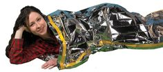 """Emergency Survival Mylar Thermal Sleeping Bag (2 Pack) - Grizzly Gear - 84"""" X 36"""" Grizzly Gear http://smile.amazon.com/dp/B00AY1LCIE/ref=cm_sw_r_pi_dp_kDtYtb00XK971N0M"""