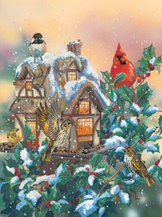 Cottage Feeder Jigsaw Puzzle   1000 Piece Puzzles   Vermont Christmas Co. VT Holiday Gift Shop