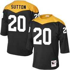 45878e1ef6e Mitchell and Ness Pittsburgh Steelers Men's David DeCastro Elite Black Home  1967 Throwback NFL Jersey