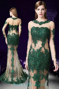 Beaded Embroidery Green On Nude Mermaid Evening Dresses ALS. Stylish Dresses, Casual Dresses, Prom Dresses, Formal Dresses, Mermaid Evening Dresses, Evening Gowns, Affordable Evening Dresses, Luxury Dress, Beaded Embroidery
