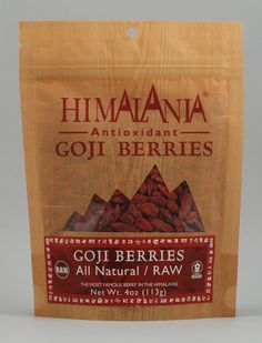 Himalania Raw Natural Goji Berries. Part of the world's best trailmix we should make :-)