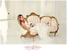 Bridal Session in the White Ballroom