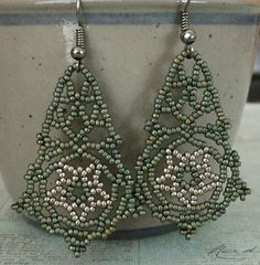 Linda's Crafty Inspirations: Pearly Lace Earrings - Three complete pairs