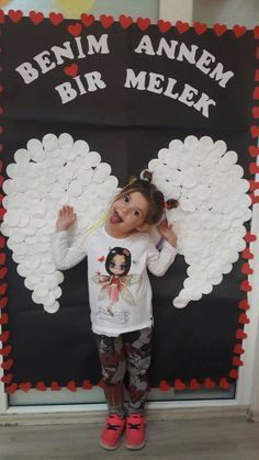 DIY Angel Wings for a great Valentine photo opportunity.
