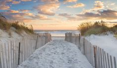 Beach Path Photo Large Art Beach Panorama Rhode Island door klgphoto