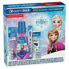 Bran new / unopened Crest Oral-B limited Editon Disney Frozen gift sets. Disney Frozen Birthday, Disney Frozen Elsa, Timer App, Frozen Bedroom, Lol Dolls, Holidays With Kids, Disney Rooms, Holiday Gifts, Mouthwash