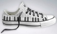 Piano Keyboard converse shoes