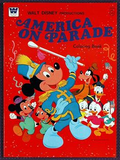 Walt Disney Productions AMERICA ON PARADE Coloring Book, 1976