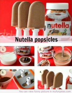 Nutella Popsicles — text jokes - http://www.myfunjokes.com/funny-jokes/nutella-popsicles-text-jokes/ #humor  #joke  #funnypics  #animal  #pet  #haha  #cute