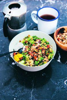 kale and quinoa w savory granola
