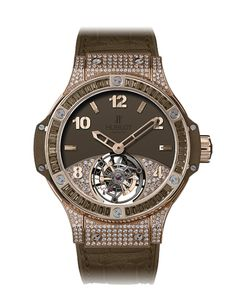 Big Bang Tutti Frutti Tourbillon Brown Pavé 41mm - Swiss Watch | Hublot | Hublot     Where my Horologists at?