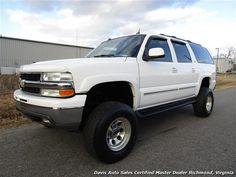 Used 2004 Chevrolet Suburban 2500 HD LT 4X4 Lifted for sale in RICHMOND, VA - $17,995 - Davis Auto Sales Certified Master Dealer Richmond, Virginia - Visit www.davis4x4.com