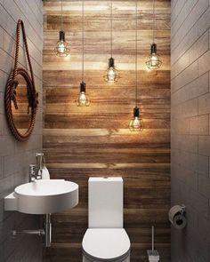 I like the lights and the wood panel wall