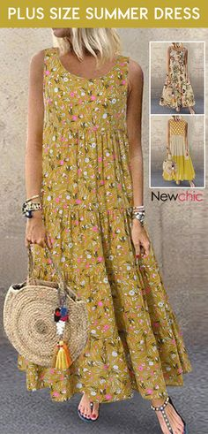 plus size summer dress. Plus Size Summer Dresses, Plus Size Outfits, Floral Print Maxi Dress, Boho Dress, House Dress, Fashion Dresses, Barbie, Vogue, Womens Fashion