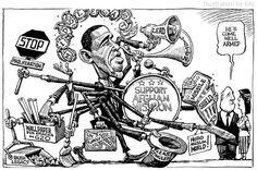 Kaltoons.One man obamaband