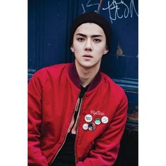 Sehun walks in on psychokinetic children for latest EXO teaser ❤ liked on Polyvore featuring exo